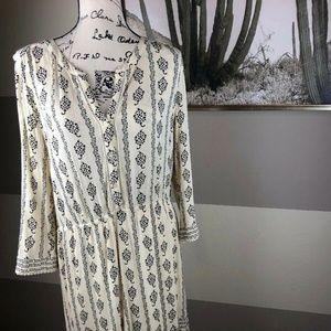Ann Taylor LOFT Geometric Printed Dress lined XL